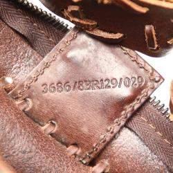 Fendi Brown Embossed Oyster Leather Shoulder Bag