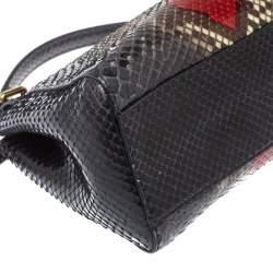 Fendi Multicolor Python Mini Peekaboo Top Handle Bag