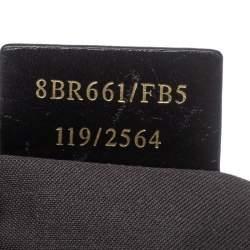 Fendi Black Zucchino Coated Canvas and Leather Chiusura Tote
