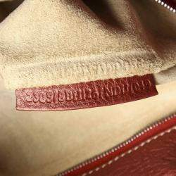 Fendi Red Leather Selleria Tote Bag