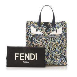 Fendi Multicolor Nylon Monster Eyes Tote Bag