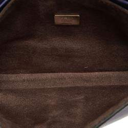Fendi Purple Leather Baguette Micro Bag