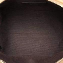 Fendi Beige Leather-Trimmed Embellished Bag