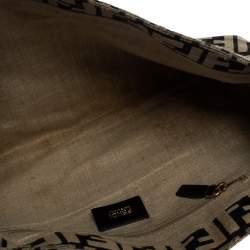 Fendi Black/Beige Zucca Canvas Mia Crossbody Bag