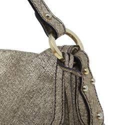 Fendi Metallic Gold Saffiano Leather Chef Shoulder Bag