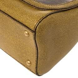 Fendi Yellow/Grey Stingray and Leather Anna Shoulder Bag