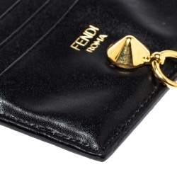 Fendi Black Leather By The Way Card Holder