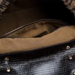 Fendi Tobacco Zucca Canvas and Leather Magic Satchel