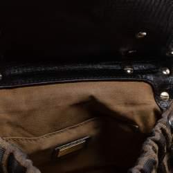 Fendi Tobacco Zucca Canvas and Leather Small Magic Satchel