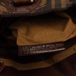 Fendi Tobacco Zucca Canvas Chef De Jour Bag
