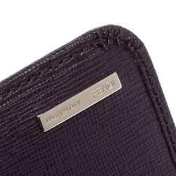 محفظة كونتننتال فندي جلد بنفسجي بقلاب