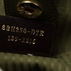 Fendi Olive Green Leather Medium 2Jours Tote
