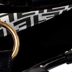 Fendi Transparent/Black Zucca PVC and Leather Small Runaway Shopper Tote