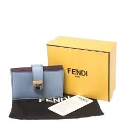 Fendi Lavender Leather Single Stud Multiple Card Holder