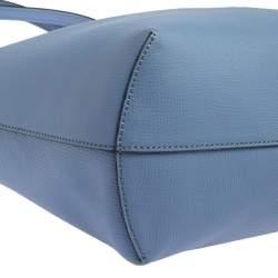 Fendi Blue Leather Kan I F Shopper Tote