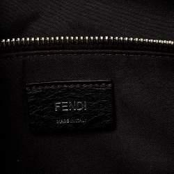 Fendi Grey/Black Leather Medium By The Way Boston Bag