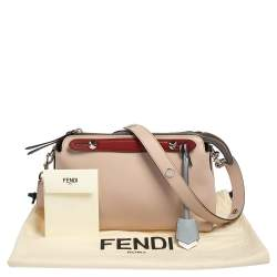 Fendi Pink/Red Leather Small By The Way Boston Bag