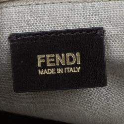 Fendi Black Tri Color Leather Silvana Shoulder Bag