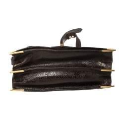 Fendi Metallic Brown Leather Classico No. 1 Satchel