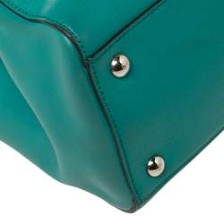 Fendi Turquoise Leather Mini 2Jours Tote