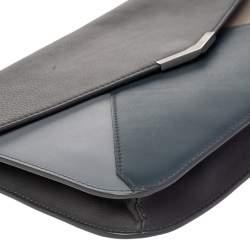 Fendi Multicolor Leather Large 2Jours Wrislet Envelope Clutch