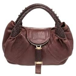 Fendi Brown Leather Spy Hobo