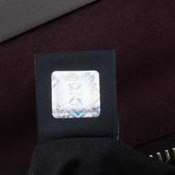 Fendi Burgundy Leather Large Peekaboo Top Handle Bag