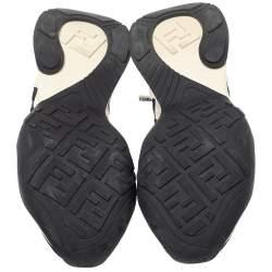 Fendi Black Mesh And Suede  FFluid Jacquard Sneakers Size 38