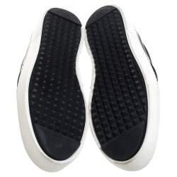 Fendi Black/Yellow Leather Monster Slip On Sneakers Size 39.5