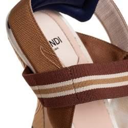 Fendi Multicolor Mesh And Leather Colibrì Slingback Pumps Size 39.5