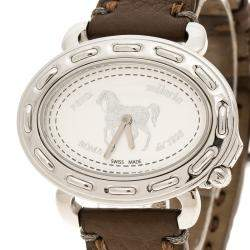 Fendi White Stainless Steel Selleria F83936DCH Women's Wristwatch 40 mm