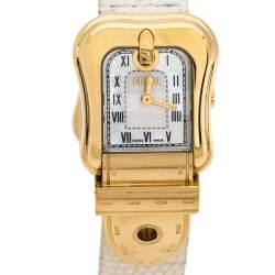 Fendi Mother of Pearl Gold Plated Stainless Steel B.Fendi 3800L Women's Wristwatch 23 mm