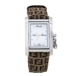Fendi Mother Of Pearl Stainless Steel Canvas 7100M Women's Wristwatch 27 mm