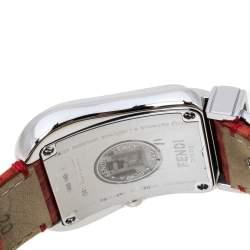 Fendi Mother of Pearl Stainless Steel Leather B.Fendi 3800G Women's Wristwatch 33 mm