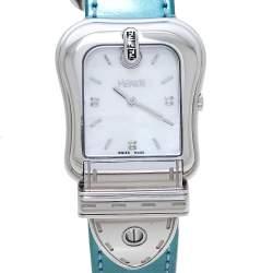 Fendi MOP Stainless Steel Diamonds B.Fendi 3800G Women's Wristwatch 33 mm
