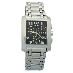 Fendi Black Stainless Steel Chronograph Orologi 7500G Women's Wristwatch 32mm