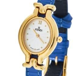 Fendi Silver Gold-Plated Stainless Steel Interchangeable Strap 640L Women's Wristwatch 24 mm