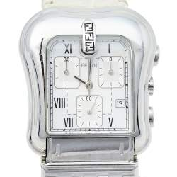 Fendi Mother Of Pearl Stainless Steel Leather B.Fendi 3900G Women's Wristwatch 36 mm