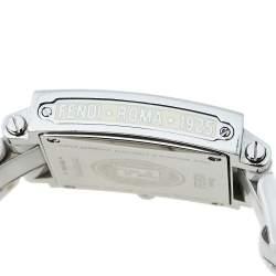 Fendi White Ceramic And Stainless Steel Diamonds Quadro 6200G Women's Wristwatch 30 mm