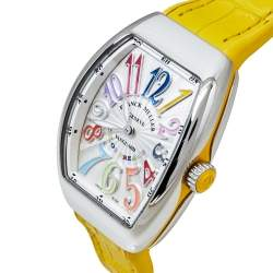 Franck Muller Silver Stainless Steel Vanguard Color Dreams V 32 QZ Women's Wristwatch 32 mm