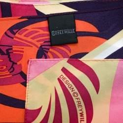 Frey Wille Multicolor Magic Sphinx Printed Silk Square Scarf