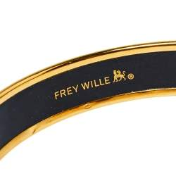 Frey Wille Hommage à Alphonse Mucha Fire Enamel Gold Plated Miss Bangle