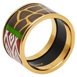 Frey Wille Spirit Of Africa Safari Multicolor Fire Enamel Band Ring Size EU 53