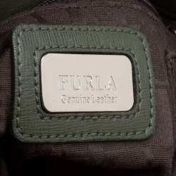 Furla Moosy Green Leather Appaloosa Tote