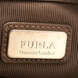 Furla Dark Beige Leather Kelis Tote