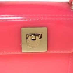 Furla Pink PVC Candy Mini Top Handle Bag