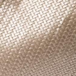 Furla Gold Woven Raffia and Leather Shopper Tote