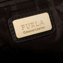 Furla Tri Color Leather Satchel