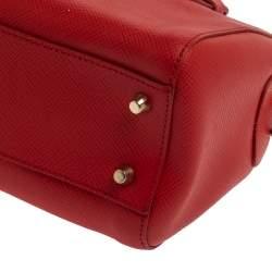 Furla Red Leather Small Allegra Satchel