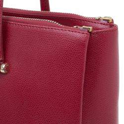 Furla Red Textured Leather Large Lotus Tote
